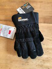 Berne Men's Insulated/Waterproof/Lightweight Real Tought Gloves XXL Black NWT