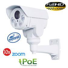 CCTV 1080P Mini Outdoor IR Bullet IP PTZ Camera 10x zoom POE 2MP 5.1-51mm IR 80M