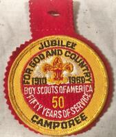 2 VINTAGE BOY SCOUT PATCHES 1960 50TH JUBILEE CAMPOREE & BOY SCOUTS CANADA