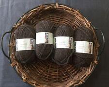 ROWAN British Sheep Breeds Chunky Knitting Crochet Yarn 953 Brown Pack 4 Balls