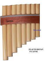 GEWA FLAUTO DI PAN PREMIUM DO maggiore 8 Canne bambù naturale estensione DO - DO