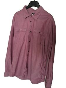 Nike SB Casual Smart Stretch Button-up Flannel Shirt Pink/Red Heather Skate L/XL