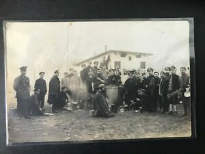 WW1 Prisoner of War Camp. WW1 Postcard Unused.