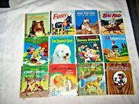 12 x Ass't 1960's TV & Walt Disney Little Golden Books Children's Story Books