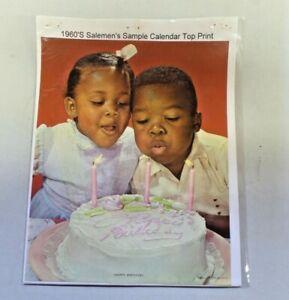 Happy Birthday Black Americana 1960's Salesmen's Sample Calendar Top Print