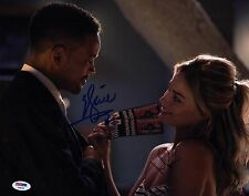MARGOT ROBBIE WILL SMITH SIGNED FOCUS 11X14 PHOTO! AUTOGRAPH SEXY PSA DNA PROOF!