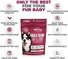 Might Petz Max Hemp Hip & Joint Mobility Suport for Dogs & Cats - 60 chews