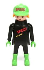 Playmobil Figure Racing Motorcycle Racer Rider w/ Speed Hat 3779