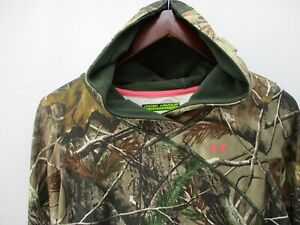 UNDER ARMOUR SCENT CONTROL LARGE  WOMEN'S HOODIE  FITTED CAMO AP HD REALTREE