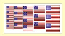 19 Aufkleber, 5 Größen USA Amerika United States Modellbau Flagge Fahne Mini