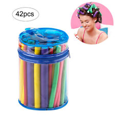 42pcs/pack Hair Curlers Flexible Rods Set No Heat Hair Rollers Soft Foam Twist