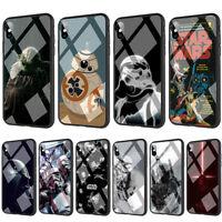 Star Wars Darth Vader Yoda Jedi Tempered Glass TPU Case for iPhone XS Max X 8 7