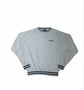 CHAPS RALPH LAUREN USA Vintage Embroidered Spellout Logo Fleece Sweatshirt •XL•