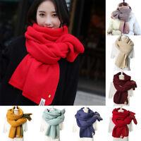 ITS- AU_ Fashion Cashmere Knitted Scarf Shawl Pineapple Women Winter Neck Wrap W