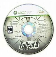 Fallout 3 Game of the Year Edition Microsoft Xbox 360 X360 Game Disc 2 Only