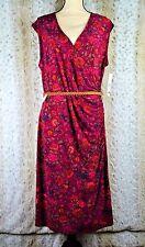 Ralph Lauren Floral Dress Belted Women's Plus Sz 1X Stretch Multi Color $165 D17