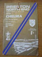 25/01/1969 Preston North End v Chelsea [FA Cup] (Slight Creased)