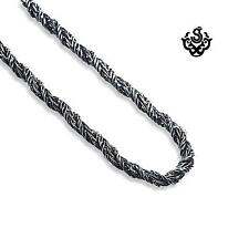 Silver twisted knot necklace stainless steel chain soft gothic