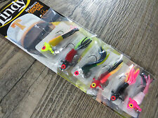 New listing 6 - Lindy 1/8 Oz Dancin' Crappie Spin Jig Multi Color Tubes - Ice Fishing Jig