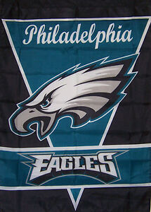 """NEW 28""""x40"""" PHILADELPHIA EAGLES FLAG GENUINE BETTER QUALITY NFL LICENSED"""