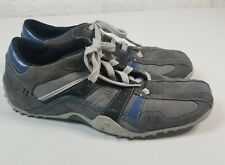 Skechers Men's Size 10.5 Sneakers Suede Leather Blue Gray Laceup