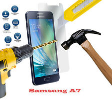 100% GENUINE TEMPERED GLASS FILM SCREEN PROTECTOR FOR SAMSUNG GALAXY A7 - NEW