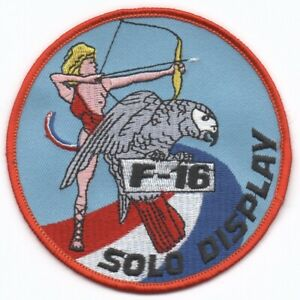 Patch RNLAF Volkel F-16 Fighting Falcon 322 323 Squadron Solo Display Viper
