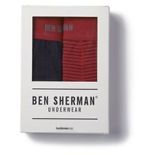 Ben Sherman Underwear Ernie Trunks Boxer Brief 2 pack Red Black XL New NWT