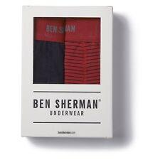 Ben Sherman Underwear Ernie Trunks Boxer Brief 2 pack Red Black XL New NWT