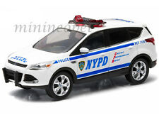 GREENLIGHT 86070 2014 FORD ESCAPE NYPD NEW YORK POLICE DEPARTMENT CAR 1/43 WHITE