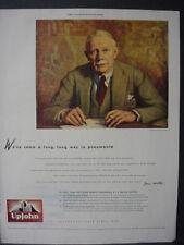 1945 Pneumonia Research Progress Upjohn Pharmaceuticals Vintage Print Ad 12465