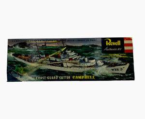 1956 Revell Coast Guard Cutter USS Campbell Ship H-338:149 1:302 PARTIALLY BUILT