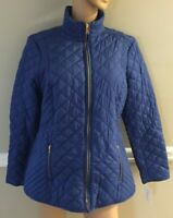 Charter Club Rich Cerulean(Blue) Quilted Jacket Size XL NWT