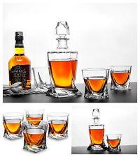 Whiskey Glasses Set Luxury Tumblers Twisted Shaped Scotch Bourbon Drinking 4 Pcs