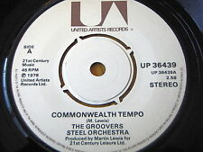 "THE GROOVERS STEEL ORCHESTRA - COMMONWEALTH TEMPO  7"" VINYL"
