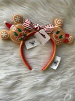Disney Parks Mickey Minnie Mouse Christmas 2020 Gingerbread Man Ears Headband