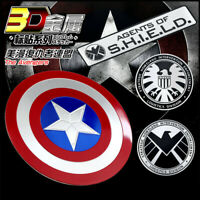 Marvel The Avengers Agent Shield Car Truck Motorcycle Metal Emblem Sticker Decal