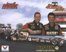 2002 Joe Amato/Darrell Russell Bilstein Top Fuel NHRA postcard