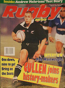 NZ RUGBY NEWS 27-13, 13 Jun 1996 Christian Cullen, Rob Wainwright, Andrew Meh