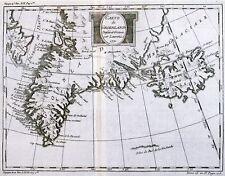 Antique map, Carte du Groenland
