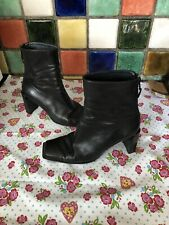 STUART WEITZMAN Russell & Bromley Ladies Black Leather Ankle Boots UK Size 6