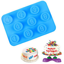 New Silicone Chocolate Mold Cake Jelly Candy Ice Cube Mould Number Shape Tool