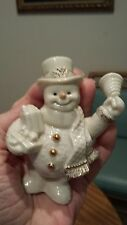 Lenox Vintage Porcelain Snowman with gold accents and no imperfections