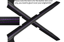 PURPLE STITCH 2X DOOR SILL SKIN COVERS FITS FORD ESCORT MK3 MK4 XR3I RS TURBO
