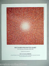 Richard Pousette-Dart Art Gallery Exhibit PRINT AD - 1990 ~~ Red Presence