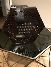 More details for rosewood concertina 48 key metal buttons