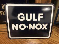 HTF!!  NOS Porcelain Gulf No Nox Pump Plate