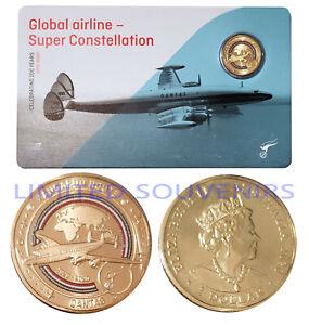 2020 $1 Qantas Centenary Coloured Coin Super Constellation NEW SEALED