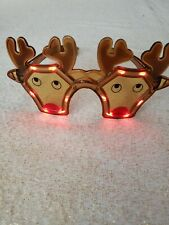 The Electric Mammoth LED Light Up Flashing Christmas Glasses (Reindeer)