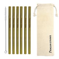 Thick Bamboo 6 Pack Reusable Drinking Straws Biodegradable Natural Organic Eco